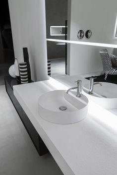 Countertop round Flumood® washbasin SIMPLO by @antoniolupispa
