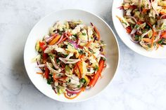 Thai Chicken and Cabbage Slaw