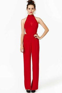 Heat Of The Moment Jumpsuit...sophisticated in the front and sexy in the back