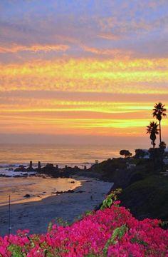 Sunset in Rosarito Beach - Baja California, Mexico
