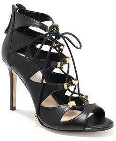 4da66d20e8bd GUESS Legari Studded Caged Lace Up Dress Sandals   Reviews - Sandals   Flip  Flops - Shoes - Macy s