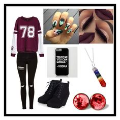 Untitled #39 by atomicriley on Polyvore featuring polyvore, Topshop, Rock 'N Rose, fashion, style and clothing