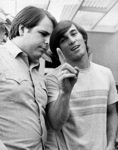 Carl and Dennis Wilson of the Beach Boys - 1965