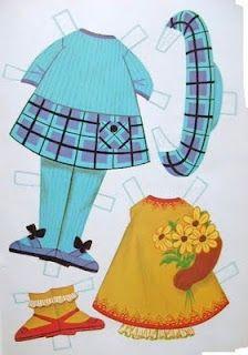 Bonecas de Papel: Betty outfits