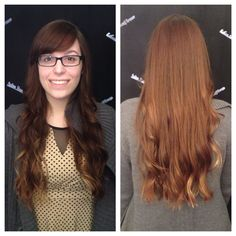 Created this pretty textured one length and side bang on my lovely client