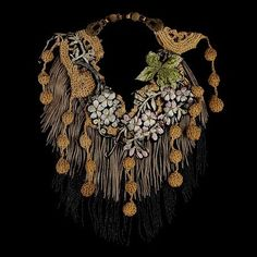Floral Crochet Bib Necklace from Fashion Jewelry