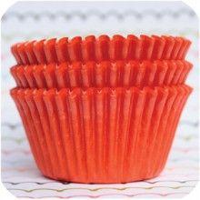 Neon Orange Baking Cups #BAKING autumn-party