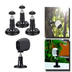 Arlo Cam Pro Smart Security Wall Mount Adjustable Indoor Outdoor Black 3 Pack #Shappy