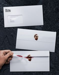 Ouch!!  13th Street Stationery of Horror Creative Advertising Campaign Photo