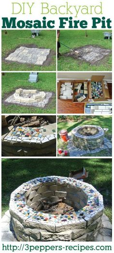 Yes!  Why have a boring fire pit when you can have one with a mosaic edge? Love this!