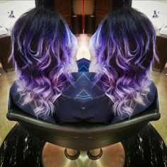 Katie is having some fun with out new #pravanavivids ! Appointments available! Call the salon to book yours 513-528-2588 #pravana #vivid #cincinnatisalon #greathair #purple #darrenandco #darrenandcosalon