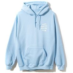 Sky Is Falling Hoodie (1,520 MXN) ❤ liked on Polyvore featuring tops, hoodies, loose hoodie, hooded pullover, light blue hoodie, loose tops and loose fitting tops
