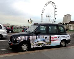 Taxi advertising in London, the UK and abroad. Advertise on the iconic London taxi shape in any city to communicate with your audience on a street level. Taxi Advertising, Commercial Van, Small Trucks, City Streets, Big Ben, Transportation, Chicago, Vehicles, Design
