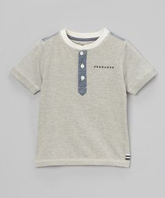 Gray Henley - Toddler by Sean John on #zulily today!