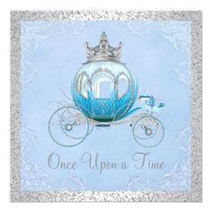 Shop Cinderella Once Upon a Time Princess Birthday Invitation created by InvitationCentral. Cinderella Party Invitations, Princess Birthday Invitations, Sweet 16 Invitations, Quinceanera Invitations, Cinderella Party Decorations, Invitation Cards, Cinderella Centerpiece, Invitation Birthday, Invite