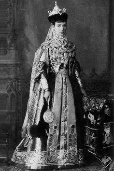 "Empress Maria Feodorovna on the occasion of the fancy ball at the Palace of Grand Duke Vladimir Alexandrovich and Grand Duchess Maria Pavlovna ""The Elder"", January 1883. She is wearing a Russian costume from the 17th century"