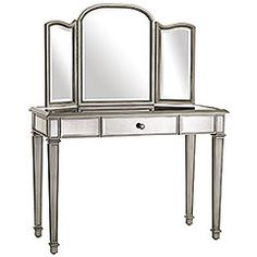 Mirrored furniture - a new obsession that i'm not sure will ever happen in my house, but I sure do like the way it looks.... Loving this vanity!