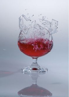 Shattered Glass  -- Examples of High Speed Photography.--