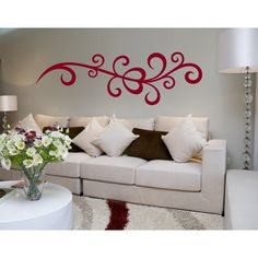 Style and Apply Powerful Vine Wall Decal (16in x 5in )