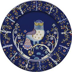 Iittala Taika Dinner Plate, Blue, with Design In Iittala launched the highly individual Taika plate by Klaus Haapaniemi, an internationally renowned illustrator. Klaus Haapaniemi has a very distinctive style of decoration, and combining this style Blue Dinner Plates, Blue Plates, Enchanted Forest Theme, Design Bestseller, Magic S, Deco Table, Serving Plates, Dining Plates, Wall Plates