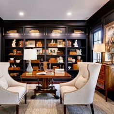 """747 Likes, 22 Comments - Building Your Dreams (@hatcliffconstruction) on Instagram: """"Love this rich, moody, blue study! This photo was taken in October at our Southern Living Showcase…"""""""