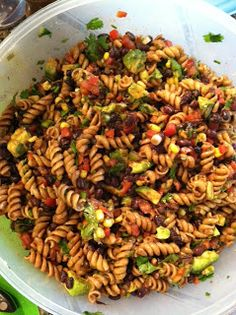 My Quest to Become Plant Strong: Rotini and Black Bean Salad