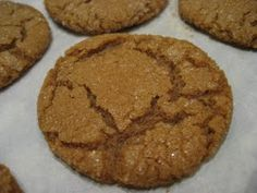 Soft Ginger Molassas cookies...in honor of finding out whole foods stopped making my favorite molasses cookies :(