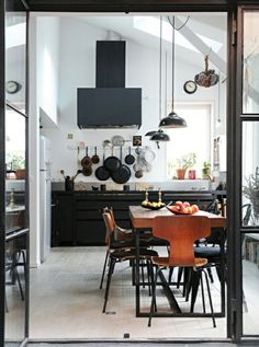 industrial Scandinavian kitchen