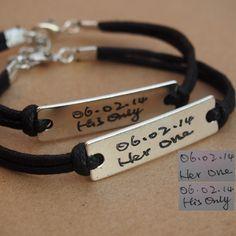 Hand signature bracelet, Couples bracelet, Anniversary bracelet, Personalized couples bracelet, Turntopretty | Personalized Bracelets | Custom Necklace | Wholesale craft supplies - Turntopretty