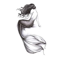 2 Sheets Waterproof Temporary Tattoos Sticker Removable Body Art Fake Tattoo Paper Arm Sleeve Cover Mermaid ** Click image for more details.
