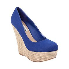 $76.97 Steve Madden Pamelaaa wedges. I really want these for summer! I tried them on.. I was taallllllll!