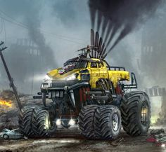 65 Ideas For Monster Truck Movie Cars Monster Trucks Movie, Monster Truck Birthday, Lego Birthday, Cool Trucks, Big Trucks, Cool Cars, Concept Art World, Concept Cars, Twisted Metal