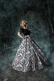 Full black and white damask skirt.  I actually like this a lot