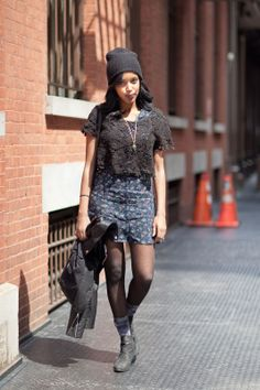Take It To The Streets: How New Yorkers Rough Up Lace  #refinery29