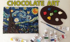VAN GOGH Starry night in CHOCOLATE paint Speed Painting HOW TO COOK THAT with Anne Reardon