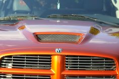 orange red dodge ram truck