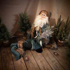Blue Santa Claus - Art Doll - Doll - Father Christmas - Christmas Art Doll - Christmas Decor - Winter Decor - Polymer Clay Art - Christmas - by RustyDolls on Etsy Father Christmas, Christmas Christmas, Polymer Clay Art, Art Dolls, Christmas Decorations, Santa, Winter, Handmade, Blue