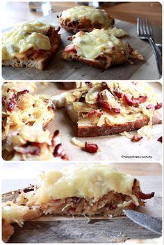 Rezept für megaleckeres Sauerkraut Brot mit Speck und Käse!