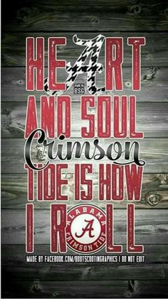 Crimson Tide Is How I Roll