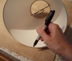 how to make a paper lamp shade pattern to cut the fabric and how to attach the fabric to the lampshade