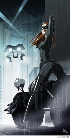 Catwoman - The Dark Knight Rises. Never seen a batman movie but still cool. Heros Comics, Bd Comics, Comics Girls, Marvel Dc Comics, Batman 1, Batman Und Catwoman, Dc Batgirl, Nightwing, Comic Book Characters