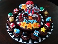 Super Mario Cupcakes. For Alyssa Allen.