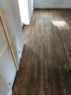 Oak Floor Installation and Refinishing Morristown- Oak floors were installed and refinished using our dustless floor refinishing system.