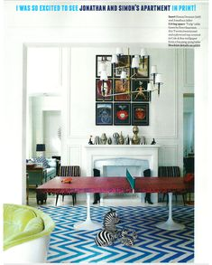 Look at that ping pong table! - So cool. A colourful life: Jonathan Adler designs - Luscious: myLusciousLife.com