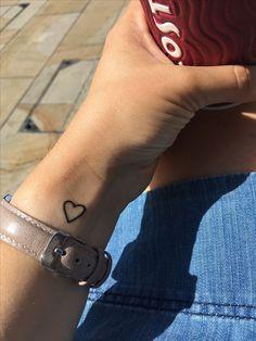 unique Tiny Tattoo Idea - Heart tattoo on wrist...