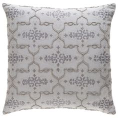 Surya Mercury Gray Decorative Pillow