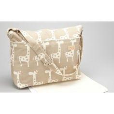 Taupe Giraffe diaper bag
