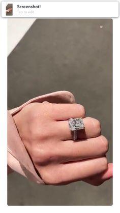 Simple Princess Cut Ring