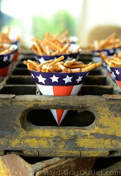 diy fourth of july paper snack cups party idea food
