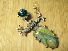 Blue Obsidian and Swamp Bog Deva. $307.00, via Etsy.